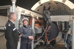 DCC Neil Brunton with Marie Edgar 2 Central Horse News