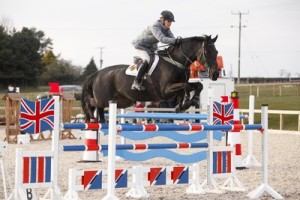 GB Olympic reserve Tina Fletcher third in the 1.30m riding her husband Graham's Promised Land for Central Horse News small