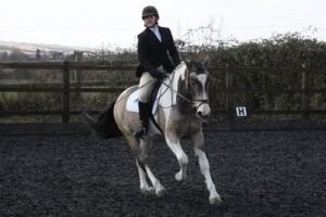 rebecca bland and dukes of hazardCJHL4589 Warehill dressage for Central Horse News small