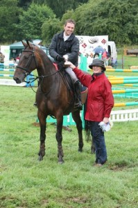 Winner of Herefordshire Country Fair Championship, Mark Edwards riding Mama's Tinker for Central Horse News