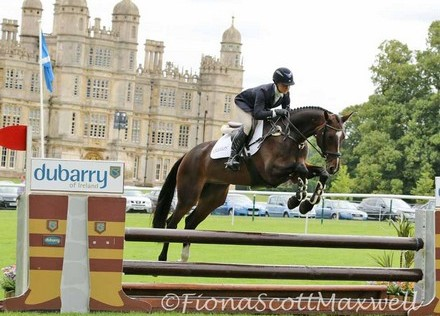 Tiana Coudray and Cavilier Crystal, BYEH 5YO winners, The Land Rover Burghley Horse Trials, September 2015