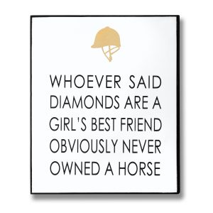 Diamonds & Horses Sign